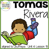 Tomas Rivera aligned with Journeys First Grade Unit 4 Lesson 19