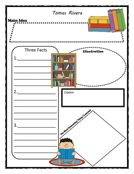 Tomas Rivera Story Map - Graphic Organizer