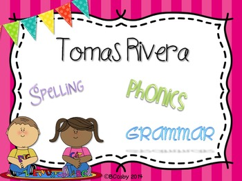 Tomas Rivera {spelling, grammar, and phonics practice}