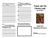 Tomas and the Library Lady Depth and Complexity Reading Comprehension Brochure