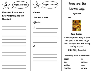 Tomas and the Library Lady Trifold - Imagine It 3rd Grade