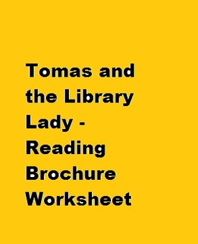 Tomas & the Library Lady Sequence of Events and Vocabulary Reading Brochure