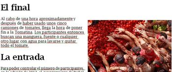 Tomatina Reading and Listening (Spain Unit)