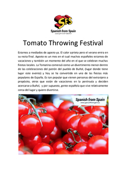 Tomatina Throwing Festival
