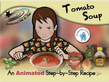 Tomato Soup - Animated Step-by-Step Recipe - SymbolStix