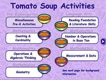 Tomato Soup Theme - Traditional Math & Language Arts - Sma