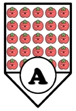 Tomato, Vegetable, Cooking Pennant Letters, Bunting, Italy Food Alphabet Posters