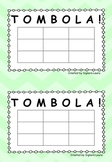 Tombola Game Board 3x3