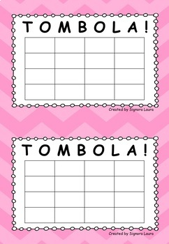Tombola Game Board 4x4