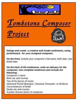 Tombstone Composer Project --Research, Halloween, Music History