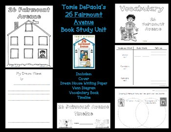 Tomie DePaola Book Study: 26 Fairmount Avenue