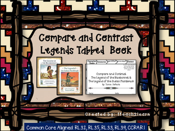 Tomie DePaola Legends - Compare and Contrast - Tabbed Book