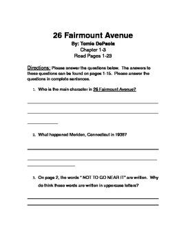 Tomie DePaola's 26 Fairmount Avenue Reader's Response