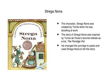Tomie Depaola Power Point Presentation on Strega Nona