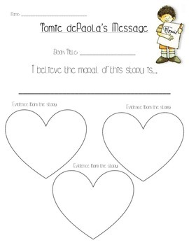 Tomie dePaola Author Message Organizer