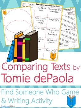 Tomie dePaola Author Study {NO PREP Writing Activities & Game}