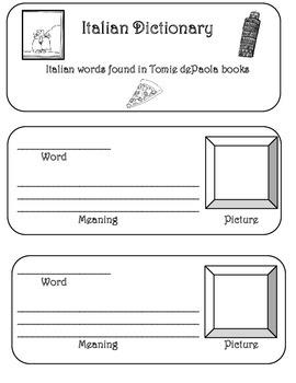 Tomie dePaola mini Italian Dictionary
