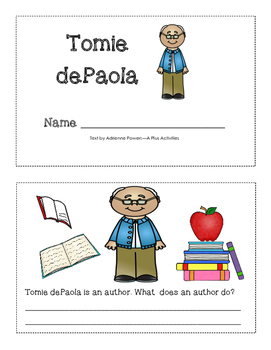 Tomie dePaola mini-book
