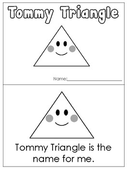 Tommy Triangle Printable Mini Book. Preschool-Kindergarten 2-D Shapes.