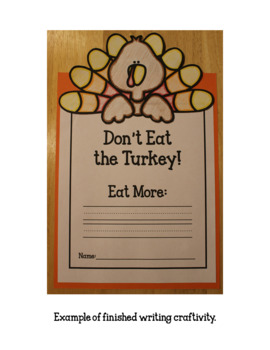 Tommy Turkey's Thanksgiving Feast (Dramatic Play) with writing craftivity