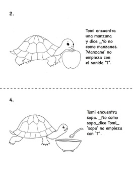 Tommy Turtle's Food A Bilingual Phonemic Awareness Story