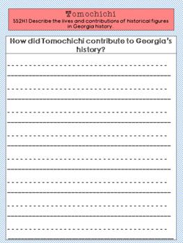 Tomochichi Graphic Organizer Set
