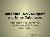 Tomochichi, Mary Musgrove and James Oglethorpe