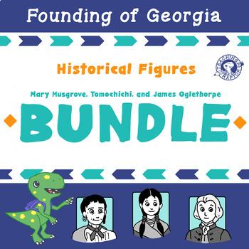 BUNDLE: Tomochichi, Mary Musgrove, and James Oglethorpe