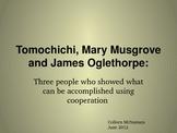 Tomochichi, Mary Musgrove and James Oglethorpe