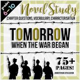 Tomorrow, When the War Began Novel Study Bundle