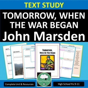 Tomorrow When the War Began - Complete Secondary Text Unit, Booklet & Resources