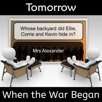 Tomorrow When the War Began Novel Study Review Game
