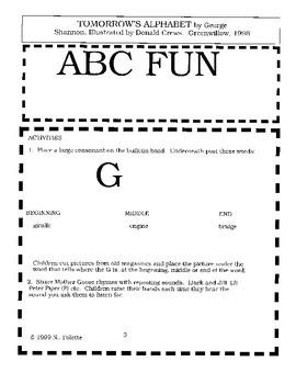 Tomorrow's Alphabet Literature Guide
