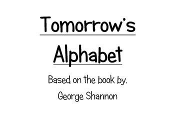 Tomorrow's Alphabet Template