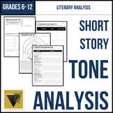 Tone Analysis for a Short Story Graphic Organizer & Guided Analysis