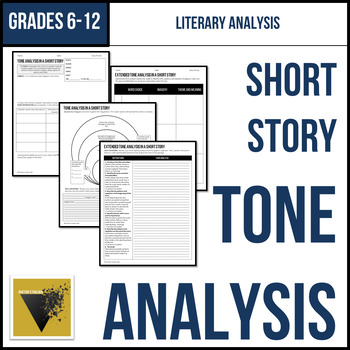 Tone Analysis for a Short Story Graphic Organizer