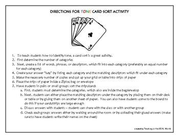 Tone Card Sort