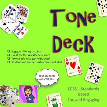 Tone Deck: Literary Analysis for the  kinesthetic Learner