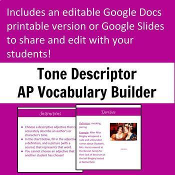 Tone Descriptor Vocabulary Builder