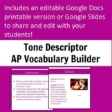 Tone Descriptor Vocabulary Builder
