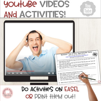 Social Skills: Tone of Voice, Teaching Materials for Middle & High School