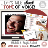 Social Language Tone of Voice Packet for Middle and High School
