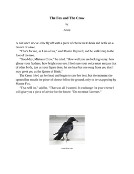 Tone: Fox and the Crow TEXTS