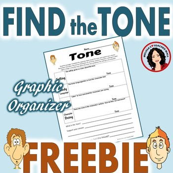 Tone Graphic Organizer Freebie