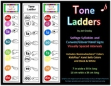 Tone Ladder Poster - Solfege and Curwen/Glover Hand Signs