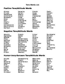 Tone: Words