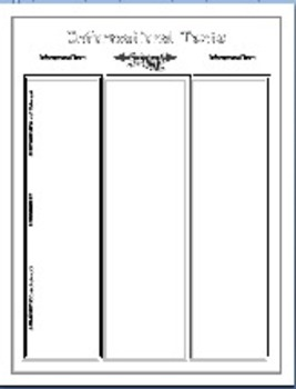 Tone Mood Theme Story Elements 62 Pages (Graphic Organizers and Writing Prompts)