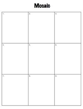Tone, Mood, Topic, Theme, Symbol, and Shift Mosaic Rubric Fully Editable
