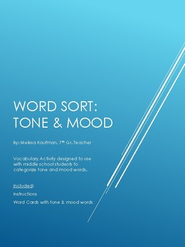 Tone & Mood Word Sort
