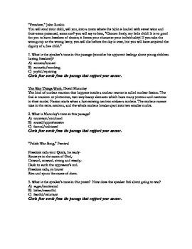 Tone Practice Worksheets
